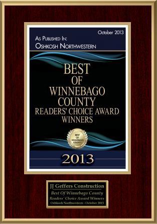 Winner of 2013 Best of Winnebago County Readers' Choice Award